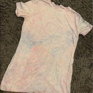 Pastel tie dye T-shirt dress